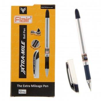 Ручка шариковая flair xtra-mile, резиновый упор, узел-игла 0.5 мм, масляна