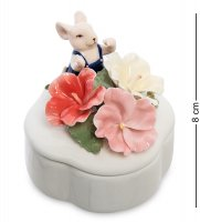 Cms-62/ 5 шкатулка мышонок с цветами (pavone)