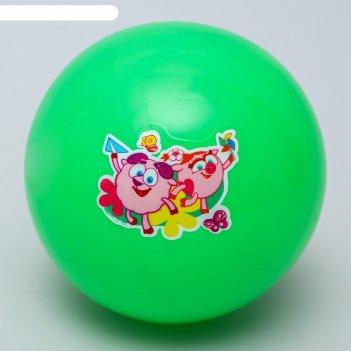 Мяч детский смешарики нюша и бараш 16 см, 50 гр, цвета красный