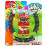 Железная дорога зоопарк, работает от батареек, микс