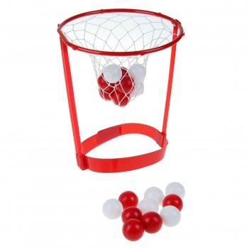 Игра баскетбол попади в кольцо пластик 5х26х26 см