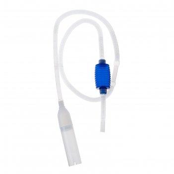 Сифон barbus accessory 032 аквариумный с грушей и насадкой, 2 м