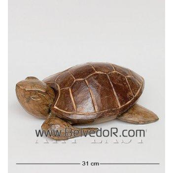 В1-0359 пепельница черепаха черная
