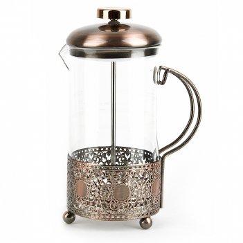 Кофейник (френч-пресс), v=600мл. (медь) (подарочная упаковка)
