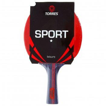 Ракетка для настольного тенниса torres sport 1*, арт.tt0005, для любителей