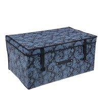 Короб для хранения с крышкой, 60х40х30 см пейсли, цвет серый