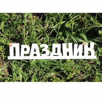 Деревянная заготовка весёлый праздник 7,5х39х0,5 см