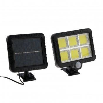 Прожектор светодиодный на выносной солнечной батарее 18 вт, cob led, 6500к