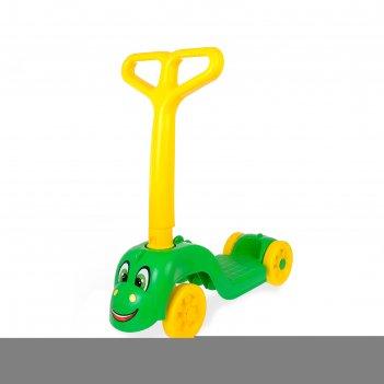 Самокат «дракоша», зелёный