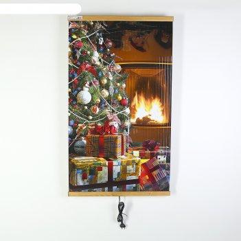 Обогреватель домашний очаг елка, инфракрасный, 500 вт, 1050 х 600 х 0.5 мм