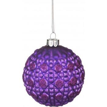 Декоративное изделие шар стеклянный диаметр=8 см. высота=9 см. цвет: фиоле