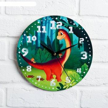 Часы дерево настенные дино