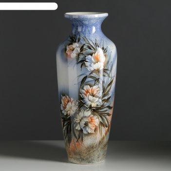 Ваза напольная виктория цветы, 68 см