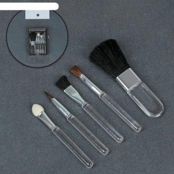 Набор для макияжа 5 предметов, в пластиковой коробке