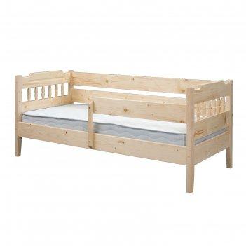 Детская кровать, 700 x 1600 мм, массив сосны, цвет лак