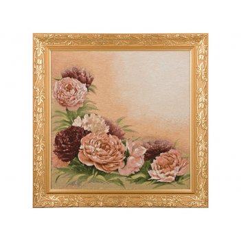 Гобеленовая картина розовые пионы 57х50см.