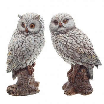 Фигурка декоративная сова, 12,5х10х21 см, 2 в.