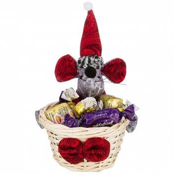 Корзинка для подарков веселые мышки 11*11*20 см. овки