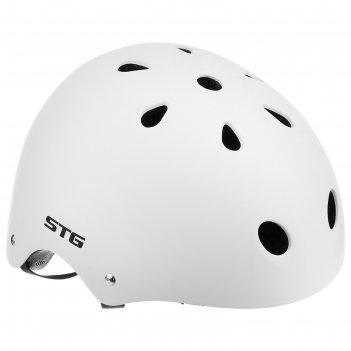 Шлем велосипедиста stg mtv12, размер m (55-58 см), цвет белый
