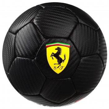 Мяч футбольный ferrari, размер 2, pu, цвет чёрный