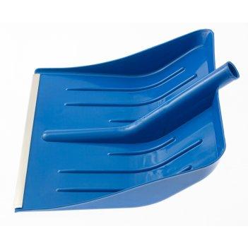 Лопата для уборки снега пластиковая, синяя, 400 х 420 мм, без черенка, рос