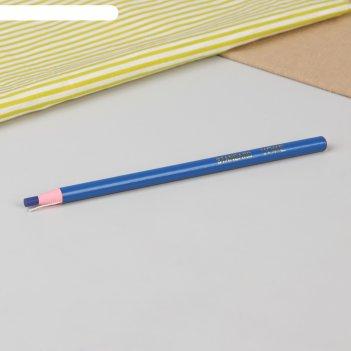 Карандаш для ткани самозатачивающийся, 18 см, цвет синий
