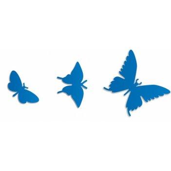 Дополнительные порхающие бабочки синие 3 шт.