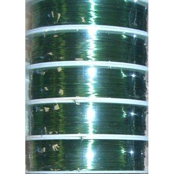 Проволока медная 0.3мм, 21 метр зеленая