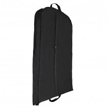 Чехол для одежды зимний 100х60х10 см, цвет черный