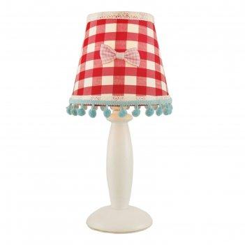 Настольная лампа a5165lt-1wh kids 1x40w e14 14x14x30 см