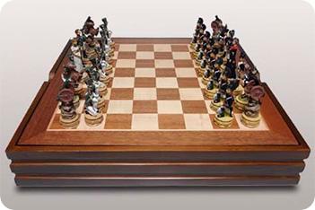 Шахматы бородино (полистоун) 36х36см