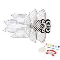 Воздушный змей-раскраска рыбка, краски 6 цветов по 6 мл, кисточка, веревка