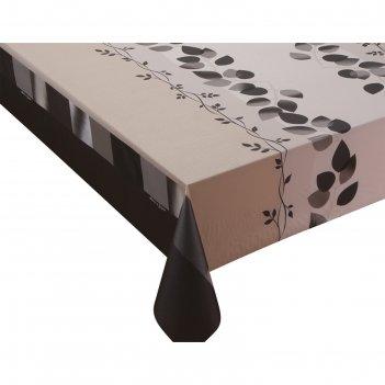 Клеенка столовая meiwa silky-180 br, 140 см, рулон 20 п.м., коричневый