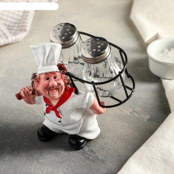 Набор для специй повар с ношей, 2 предмета на подставке