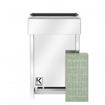 Электрическая печь karina eco 8 mini, нержавеющая сталь, камень жадеит