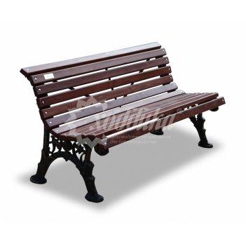 Скамейка чугунная «ажурная без подлокотников» кресло