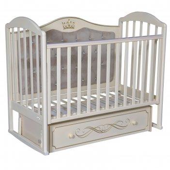Кроватка oliver camilla elegance premium, универсальный маятник, ящик, цве