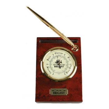 Барометр настольный с ручкой brigant 15*11*6см
