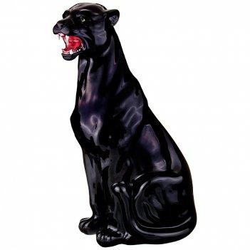 Декоративное изделие черная пантера 40*30см. высота=83см.