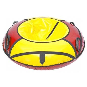 Ватрушка: надувные санки 125см красно-желтый