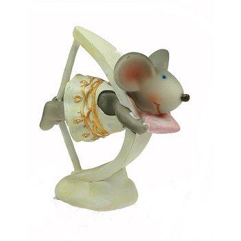 Фигурка декоративная мышка 5*10*11см (уп.4/48шт.)