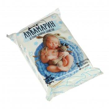 Влажные салфетки «аквамарин», детские, без запаха, 72 шт.