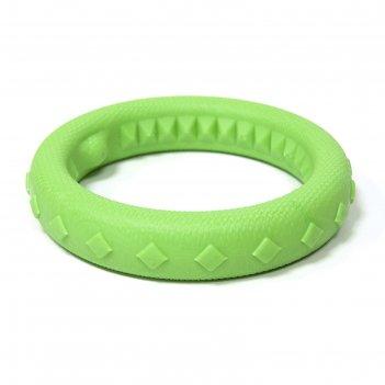 Игрушка кольцо плавающее среднее зооник, пластикат, 17 см, салатовое