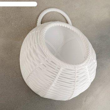 Кашпо настенное плетёнка25х21х8 см, цвет микс