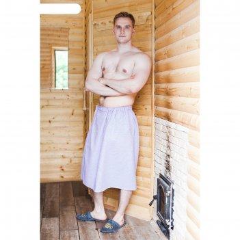 Килт для бани и сауны добропаровъ, мужской, хлопковый, однотонный, микс