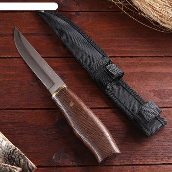 Нож разделочный, рукоять дерево, коричневая, лезвие 15 см