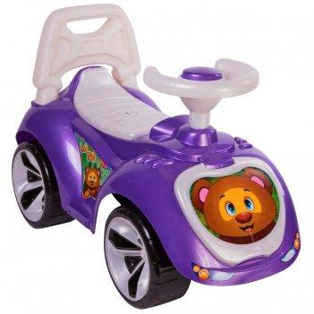 Ор758 каталка машинка мишка (lapa) цвет фиолетовый