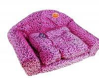 Диван люблю тебя, розовый леопард