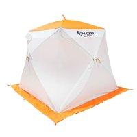 Палатка призма 200 (1-сл) стандарт композит, бело-оранжевая