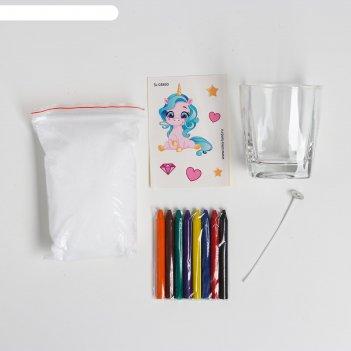 Школа талантов набор для творчества делаем свечу, единорожки, в пакете